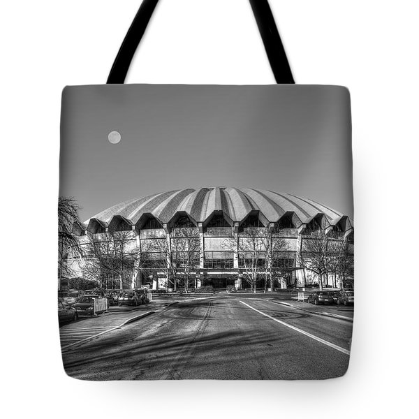 Coliseum B W With Moon Tote Bag by Dan Friend