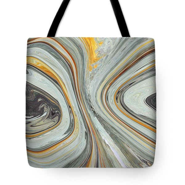 Colliding Circles Tote Bag by Christine  Dekkers