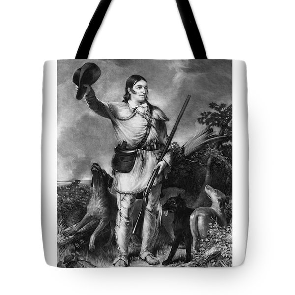 Colonel Davy Crockett Tote Bag by War Is Hell Store