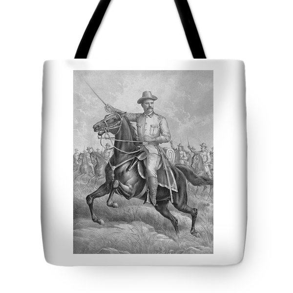 Colonel Roosevelt Leading Troops Tote Bag by War Is Hell Store
