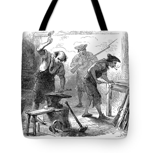 Colonial Blacksmith, 1776 Tote Bag by Granger