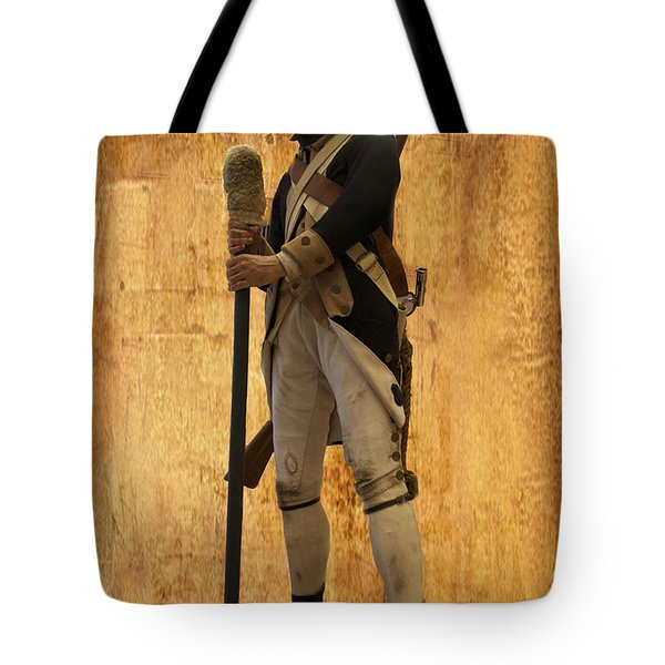Colonial Soldier Tote Bag by Thomas Woolworth