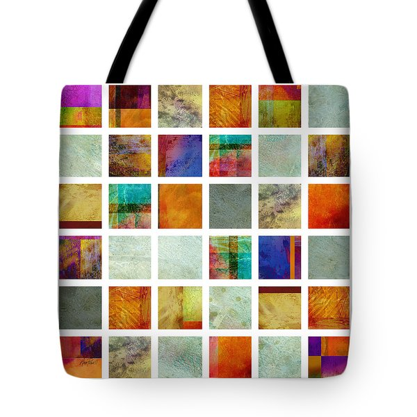 Color Block collage abstract art Tote Bag by Ann Powell