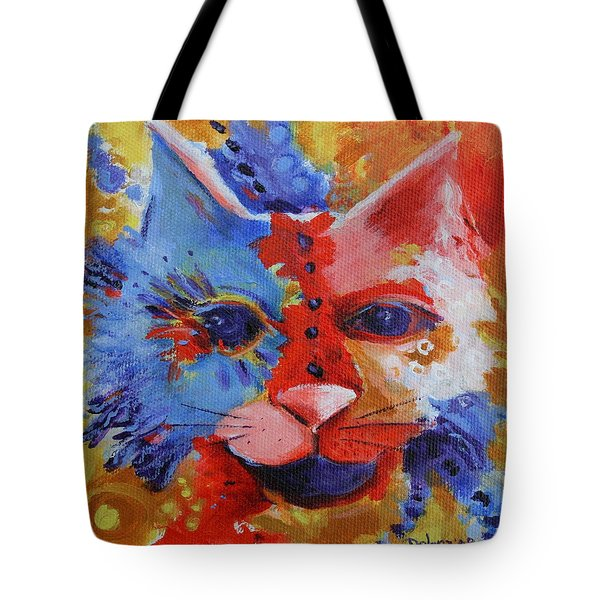 Color Cat Tote Bag by Deb Harvey