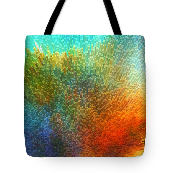 Color Infinity - Abstract Art By Sharon Cummings Tote Bag by Sharon Cummings