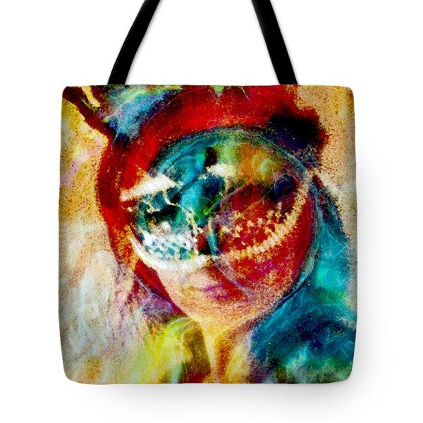 Color Mask Tote Bag by Linda Sannuti