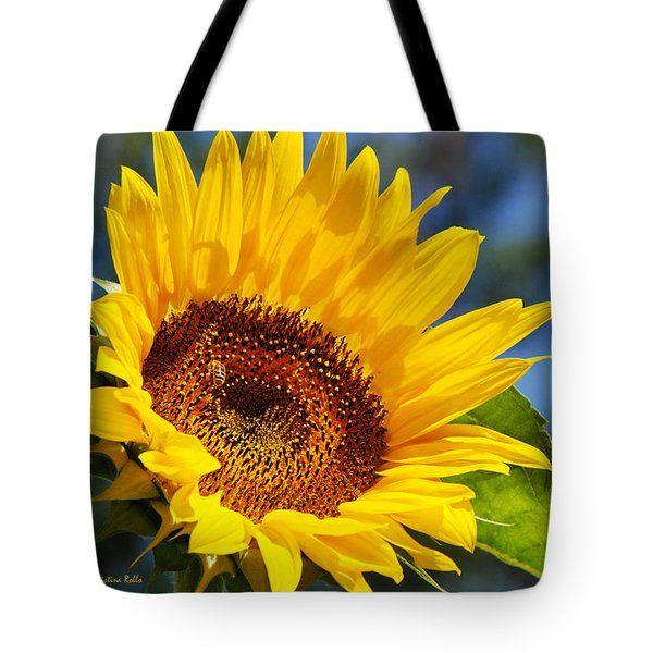 Color Me Happy Sunflower Tote Bag by Christina Rollo