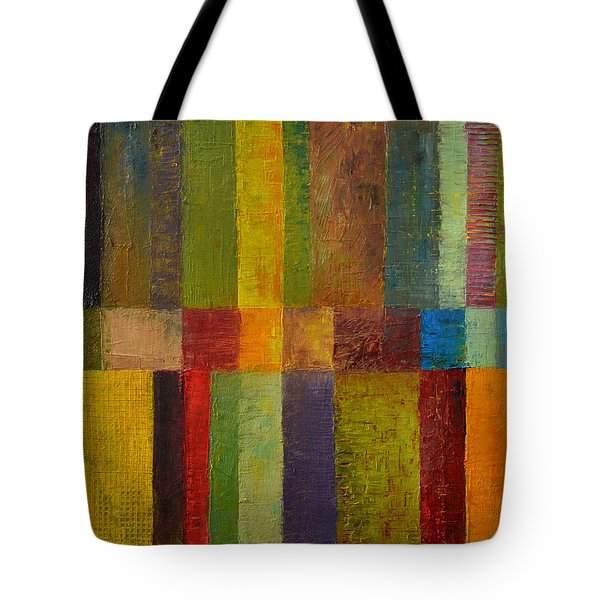 Color Panel Abstract ll Tote Bag by Michelle Calkins