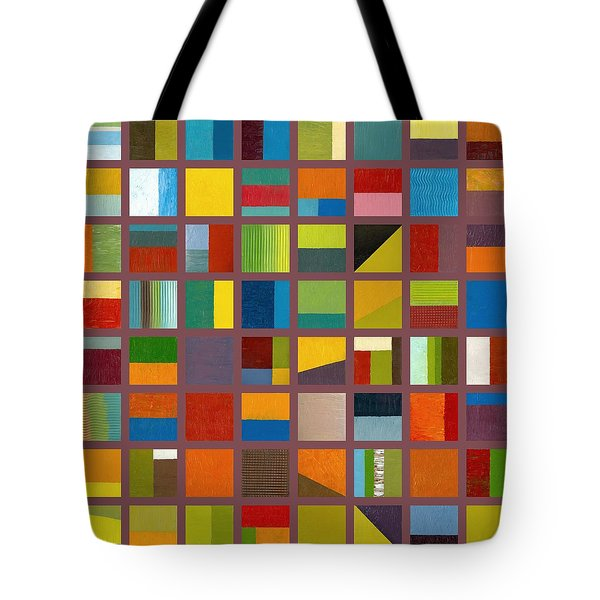 Color Study Collage 65 Tote Bag by Michelle Calkins
