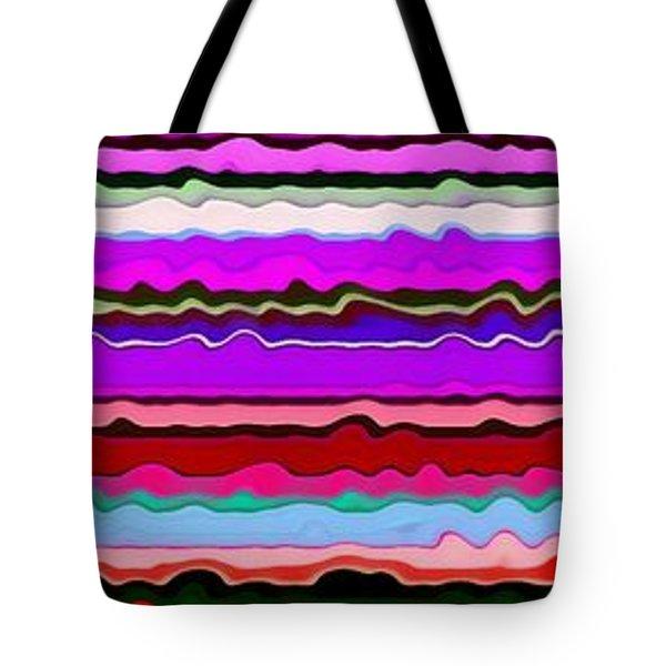 Color Waves No. 6 Tote Bag by Michelle Calkins