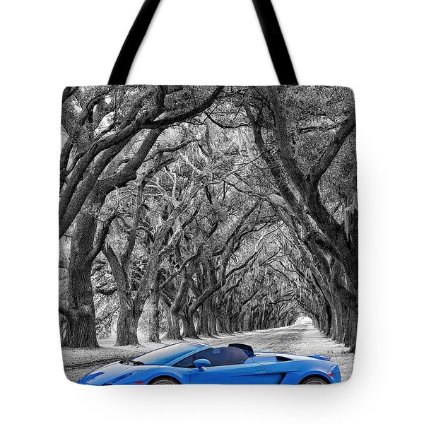 Color Your World - Lamborghini Gallardo Tote Bag by Steve Harrington