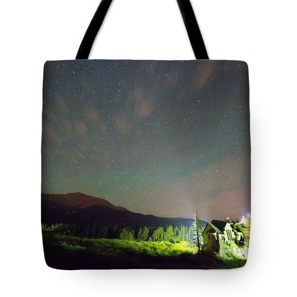 Colorado Chapel On The Rock Dreamy Night Sky Tote Bag by James BO  Insogna