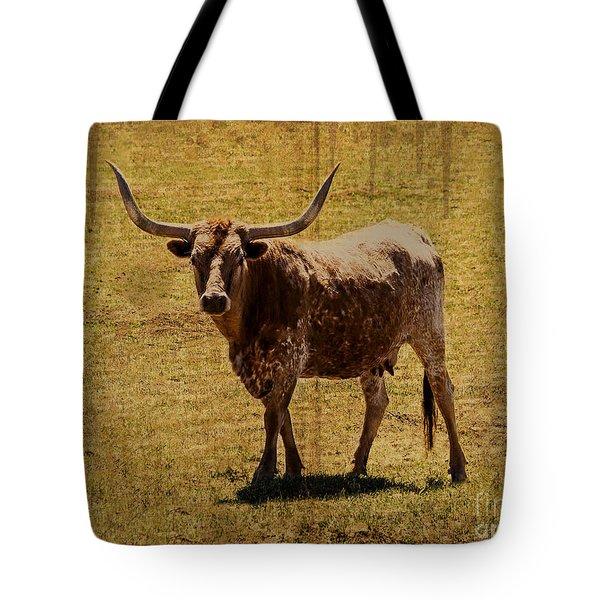 Colorado Longhorn Tote Bag by Janice Rae Pariza