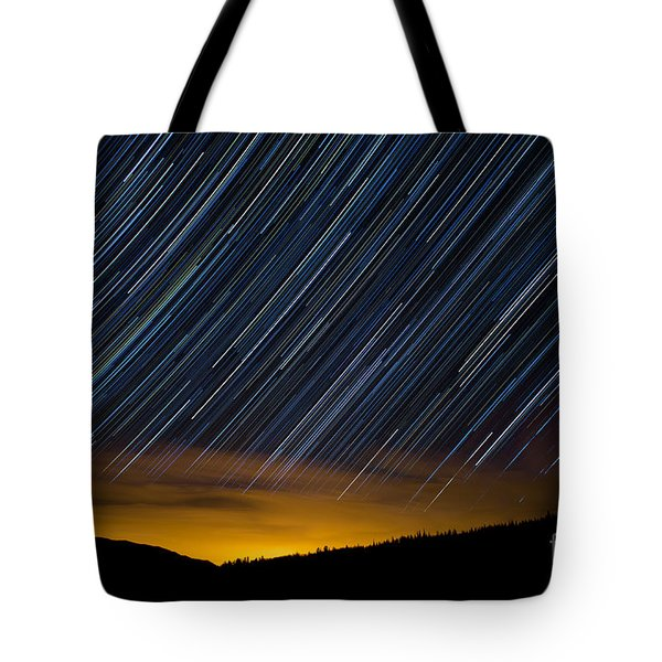 Colorado Mountain Startrails Tote Bag by Benjamin Reed