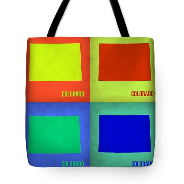 Colorado Pop Art Map 2 Tote Bag by Naxart Studio