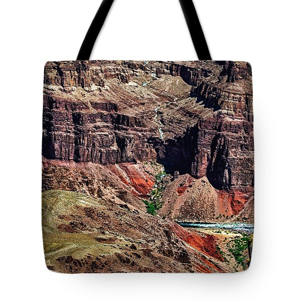 Colorado River In The Grand Canyon High Water Tote Bag by Bob and Nadine Johnston