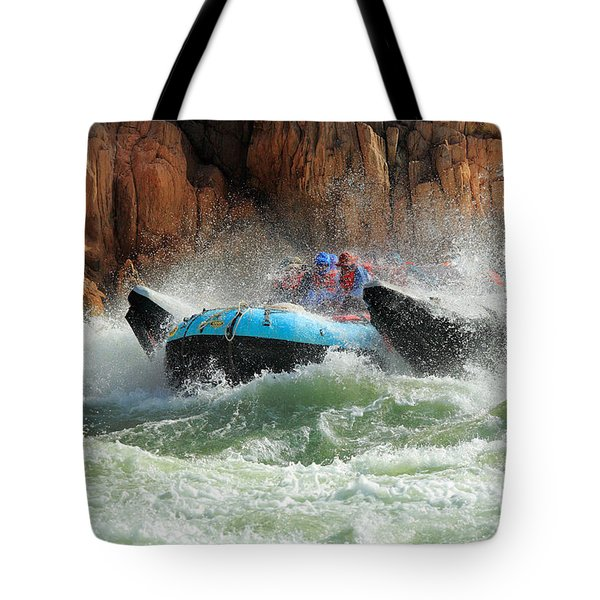 Colorado River Rafters Tote Bag by Inge Johnsson