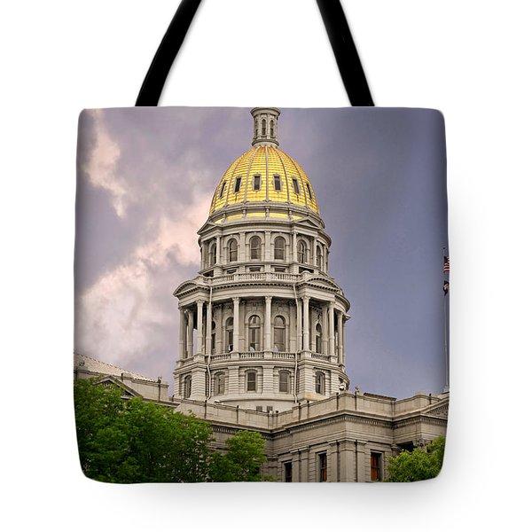 Colorado State Capitol Building Denver CO Tote Bag by Christine Till