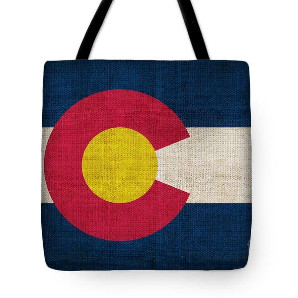 Colorado state flag Tote Bag by Pixel Chimp
