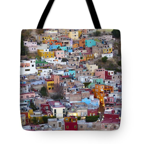 Colored Homes Tote Bag by Douglas J Fisher