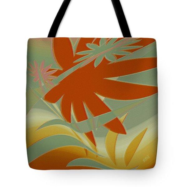 Colored Jungle Orange Splash Tote Bag by Ben and Raisa Gertsberg