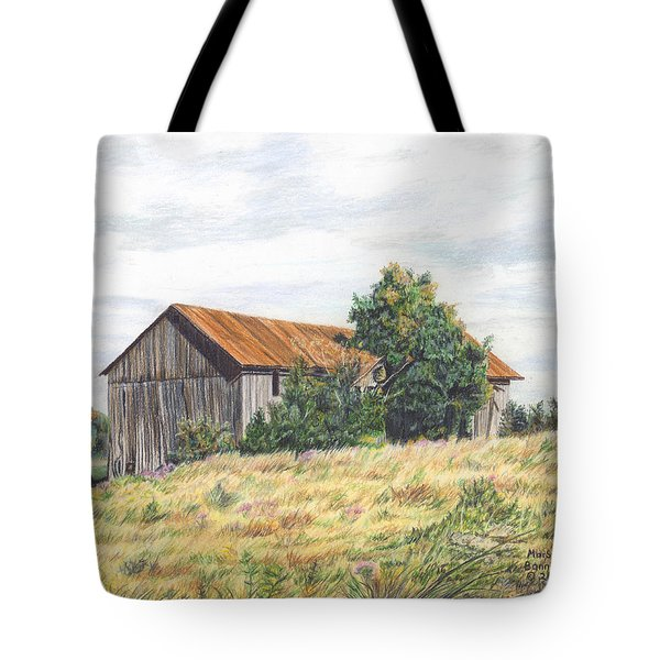 Colored Pencil Barn Tote Bag by Marshall Bannister