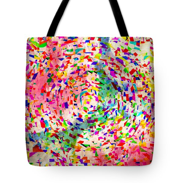 Colorful Abstract Circles Tote Bag by Susan Leggett