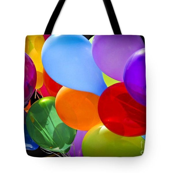 Colorful Balloons Tote Bag by Elena Elisseeva