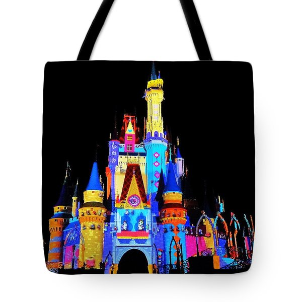 Colorful Castle Tote Bag by Benjamin Yeager