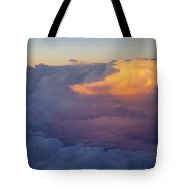 Colorful Cloud Tote Bag by Brian Jannsen