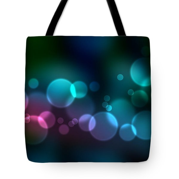 Colorful defocused lights Tote Bag by Aged Pixel