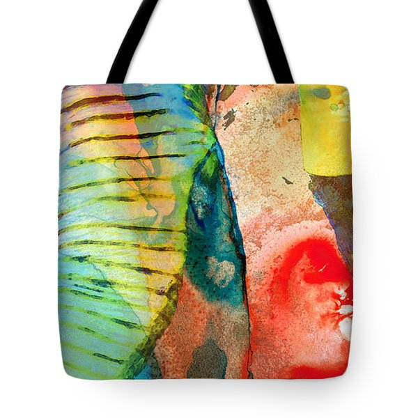 Colorful Elephant Art By Sharon Cummings Tote Bag by Sharon Cummings