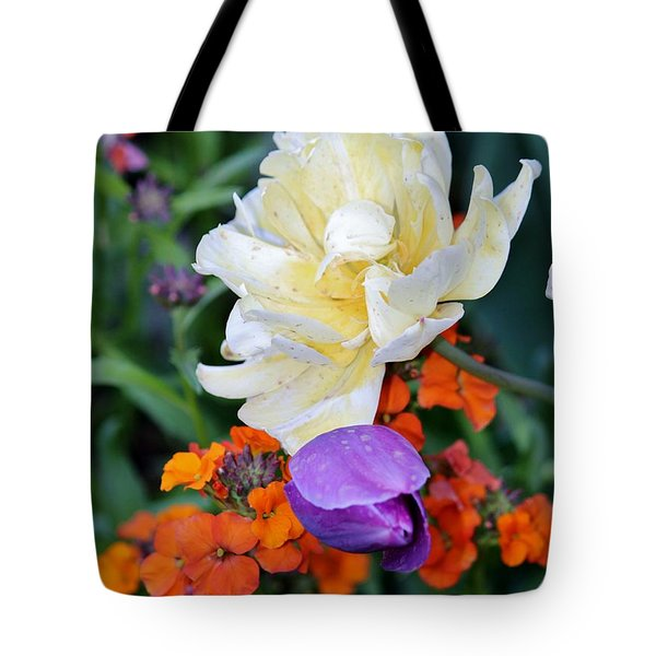 Colorful Flowers Tote Bag by Cynthia Guinn