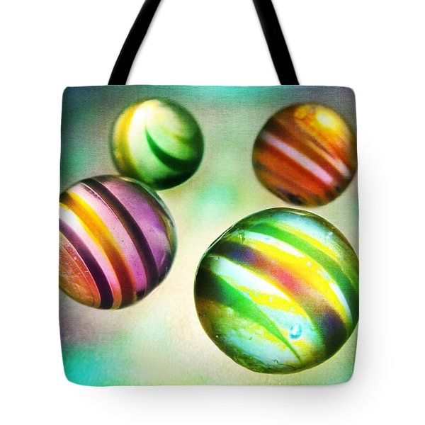 Colorful Glass Marbles Tote Bag by Marianna Mills
