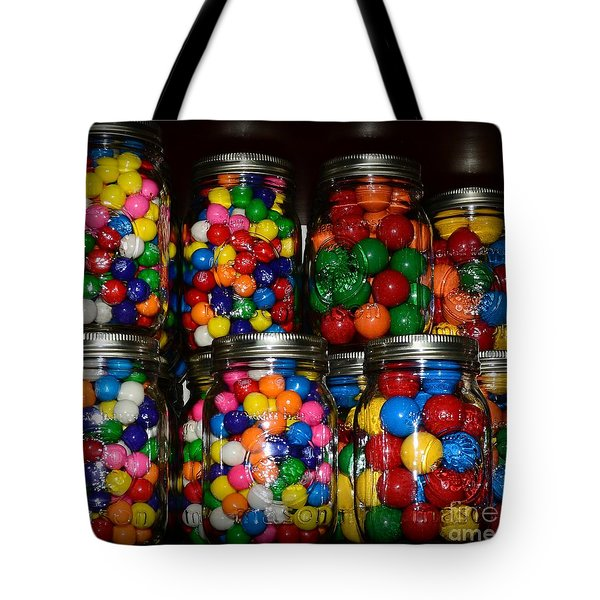 Colorful Gumballs Tote Bag by Paul Ward
