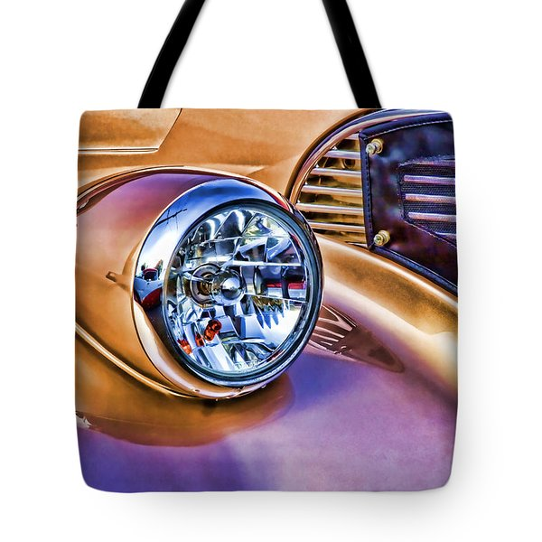 Colorful Hotrod Tote Bag by Carol Leigh
