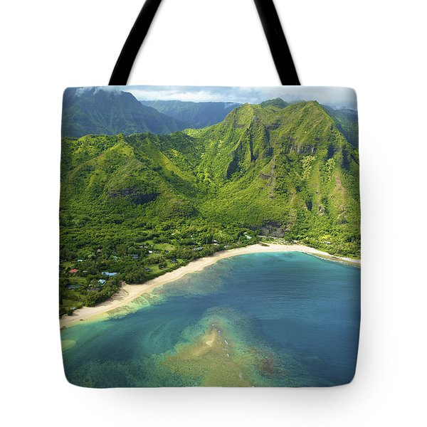 Colorful Kauai Coastline Tote Bag by Kicka Witte