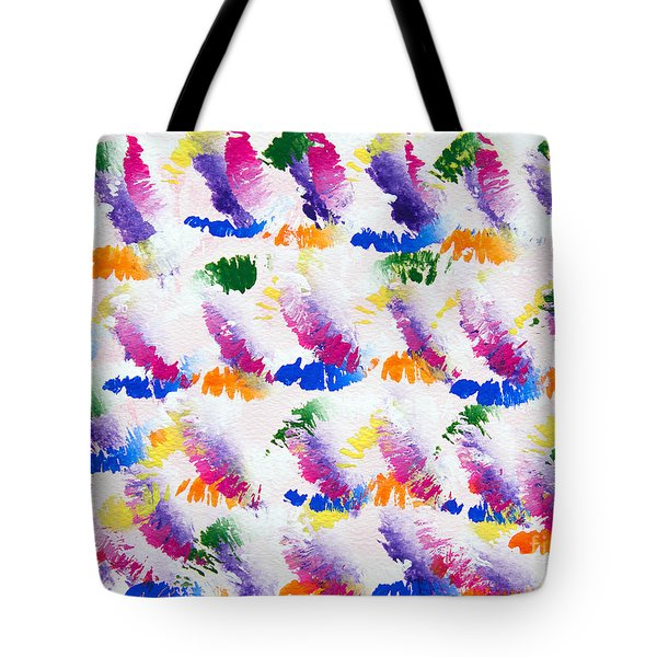 Colorful Kisses Tote Bag by Andee Design