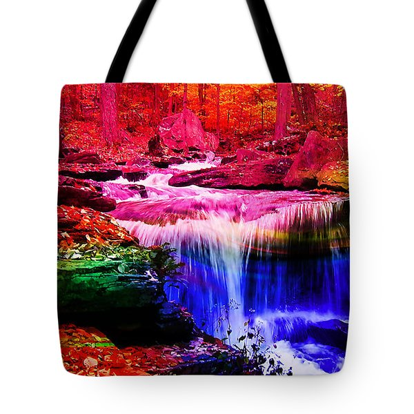 Colorful Landscape And Water Flow Tote Bag by Marvin Blaine