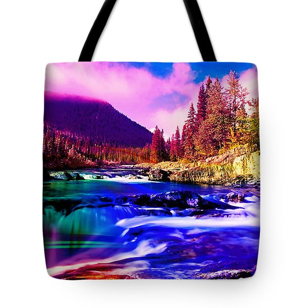 Colorful Landscape Tote Bag by Marvin Blaine