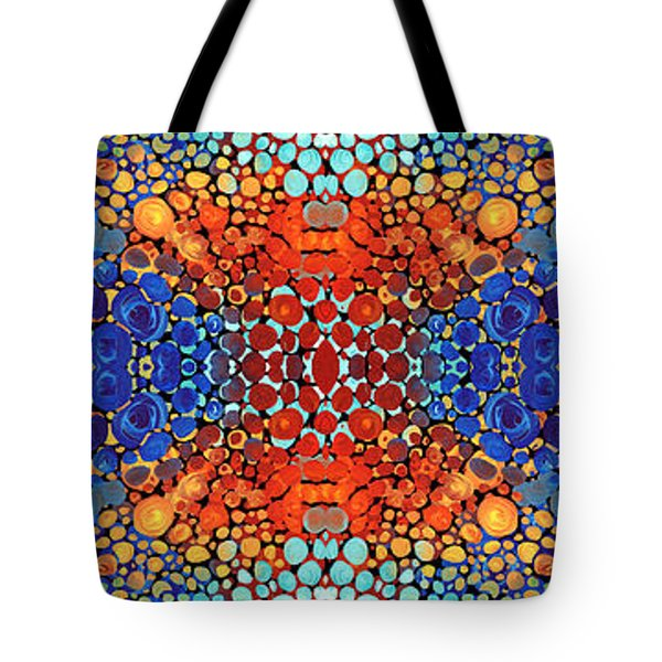 Colorful Layers - Abstract Art By Sharon Cummings Tote Bag by Sharon Cummings