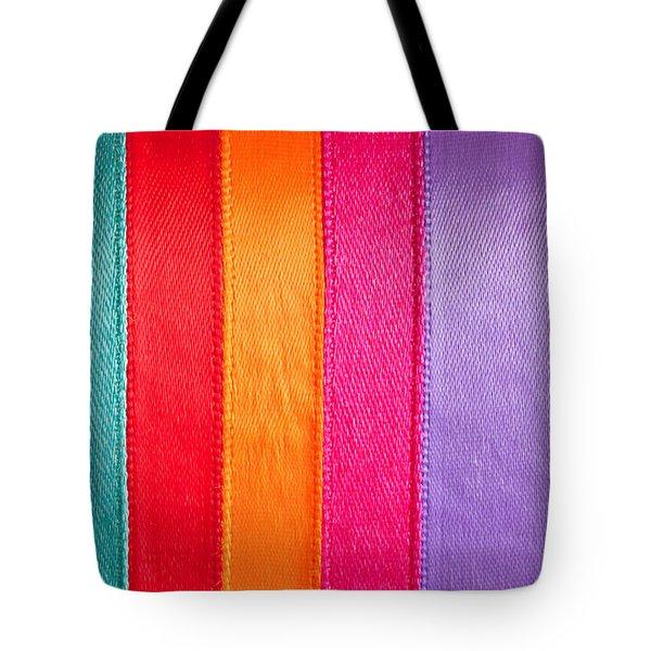Colorful Nylon Tote Bag by Tom Gowanlock