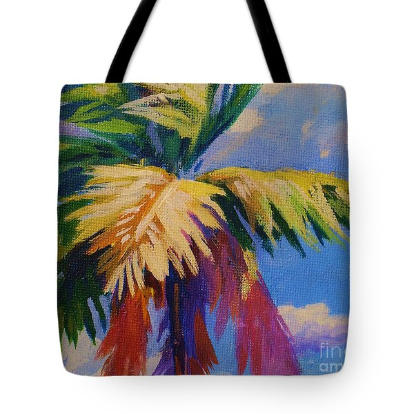 Colorful Palm Tote Bag by John Clark