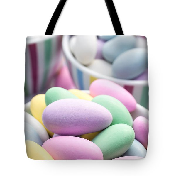 Colorful pastel jordan almond candy Tote Bag by Edward Fielding