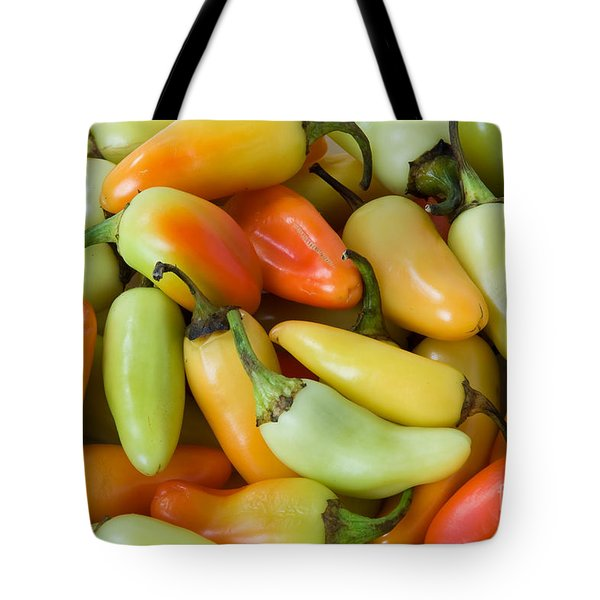 Colorful Peppers Tote Bag by James BO  Insogna