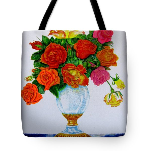 colorful roses Tote Bag by Zina Stromberg