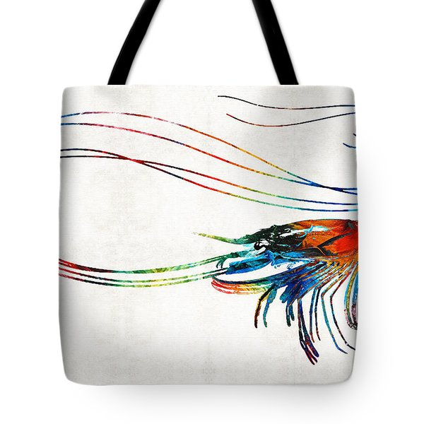 Colorful Shrimp Art By Sharon Cummings Tote Bag by Sharon Cummings