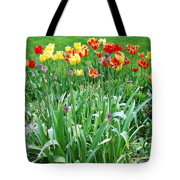 Colorful Spring Tote Bag by Aimee L Maher Photography and Art