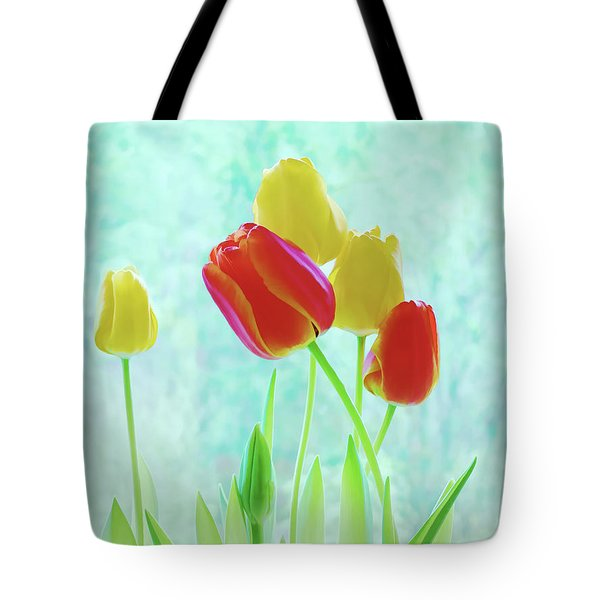 Colorful Spring Tulip Flowers Tote Bag by Jennie Marie Schell