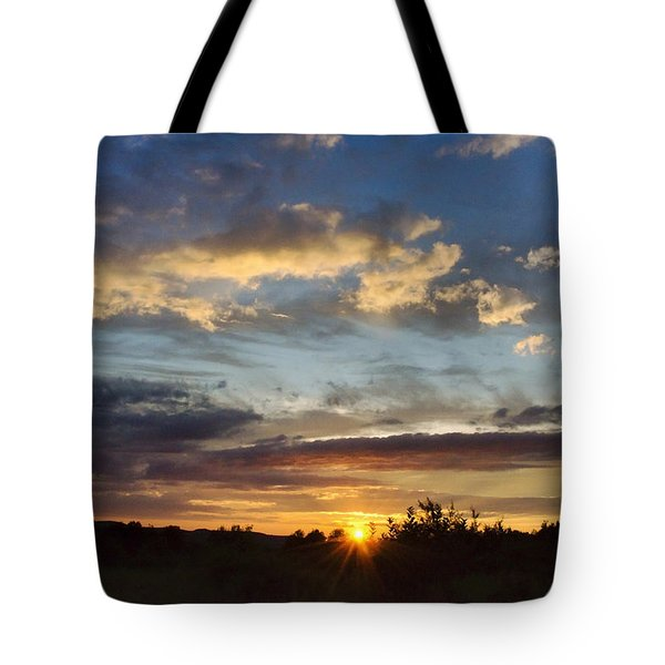 Colorful Sunset Landscape Tote Bag by Christina Rollo
